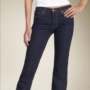 J brand he straight leg ink dark denim mid rise